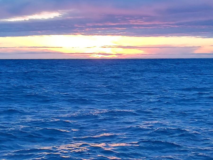 amanecer en un día de pesca-turismo