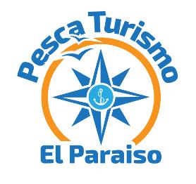 Nuevo logo: rosa de los vientos con pesca-turismo arriba y el paraiso abajo - èscaturismo.es
